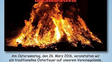 Traditionelles Osterfeuer beim COME in Essen