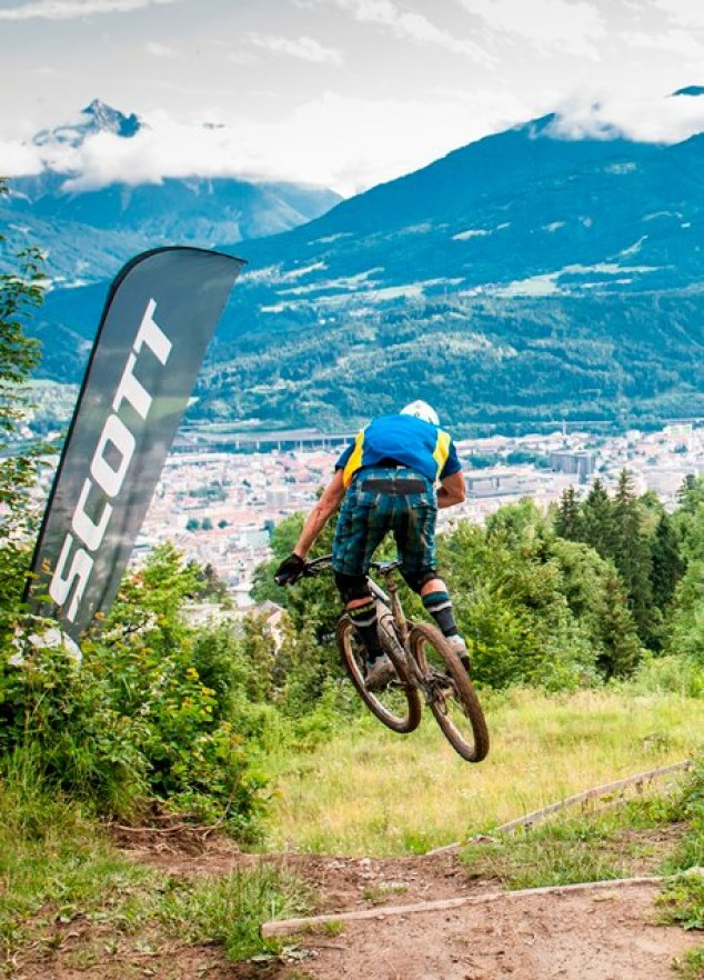 ... Nordkette Singletrail during the Nordkette Downhill.Pro Innsbruck