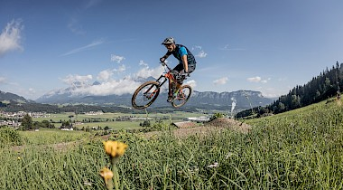 Neue Bike-Trails und Bike-Schlepplift in Oberndorf in Tirol